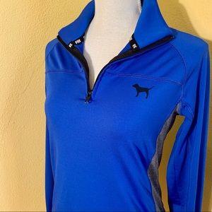 PINK Victoria's Secret Blue Quarter Zip Jacket